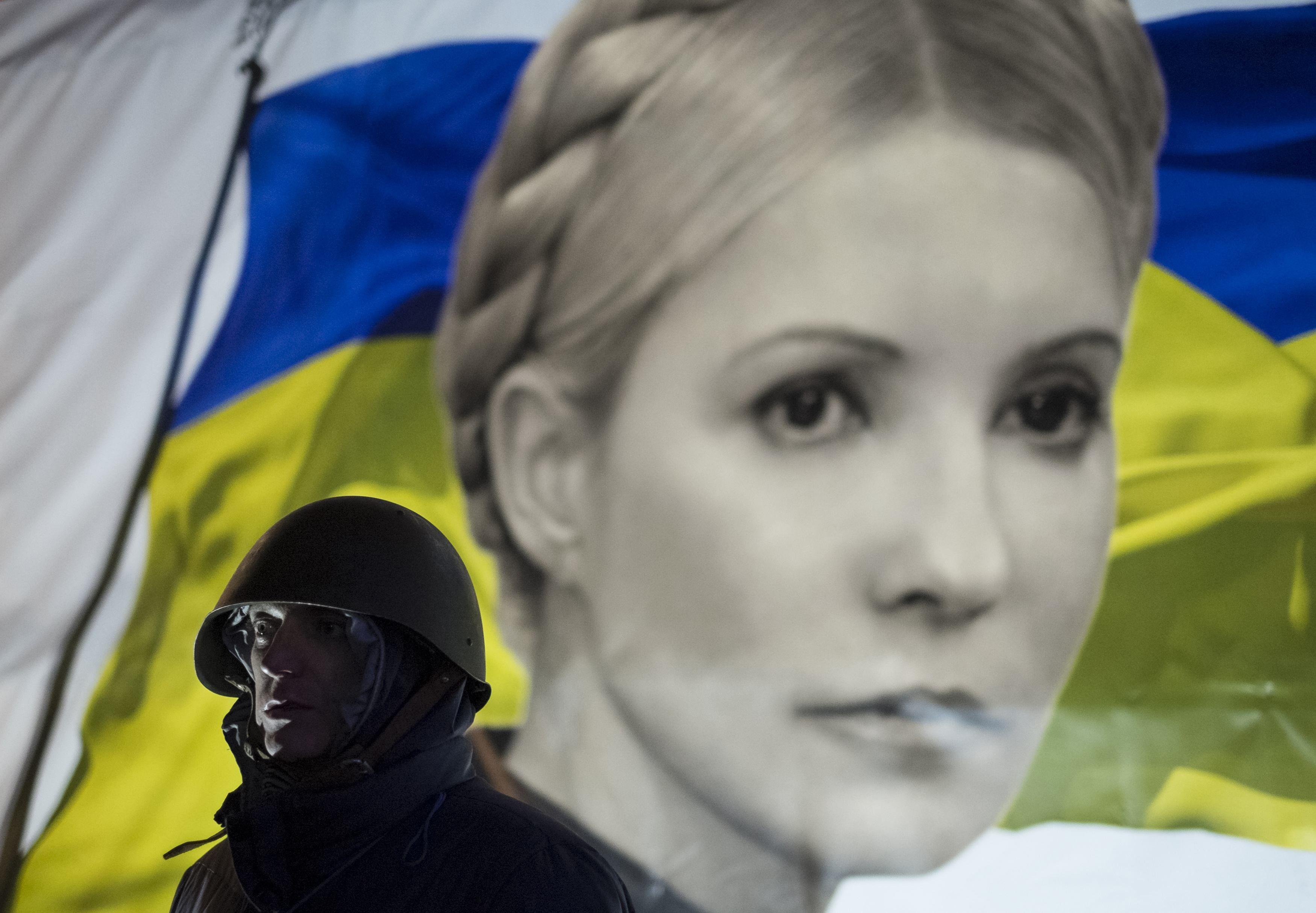 Портрет Юлии Тимошенко на Майдане