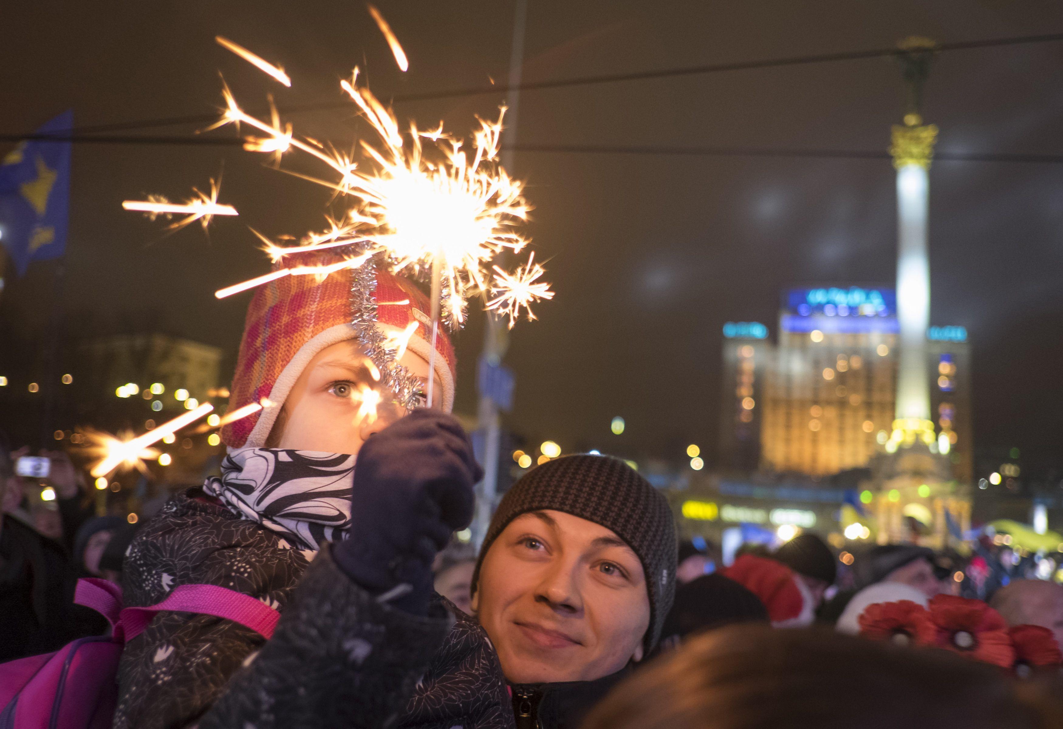 Евромайдан в ночь на Новый год