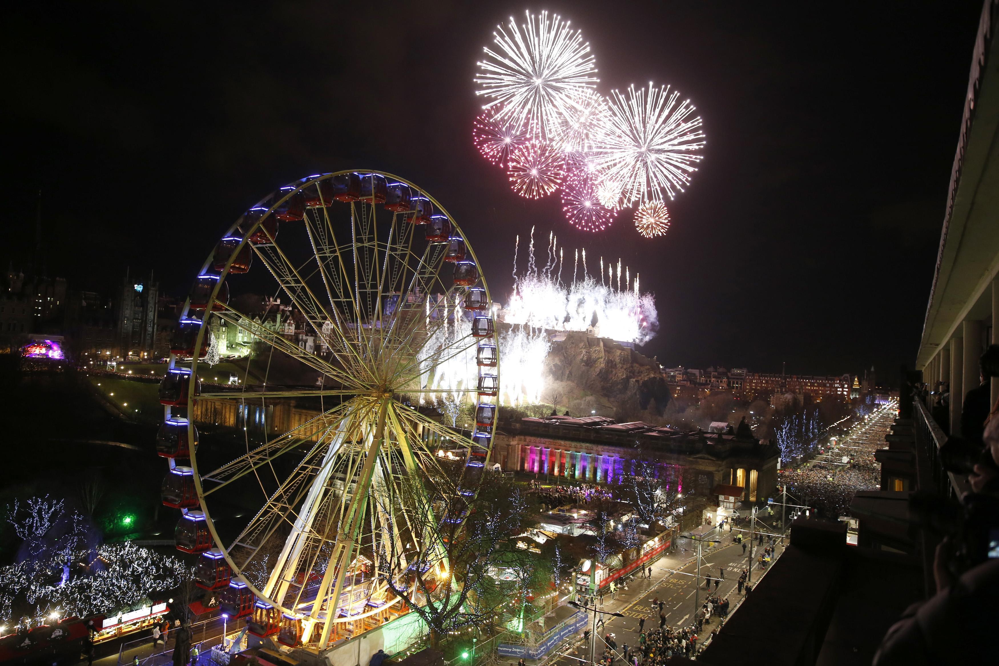 Новогодний салют в Инсбруке