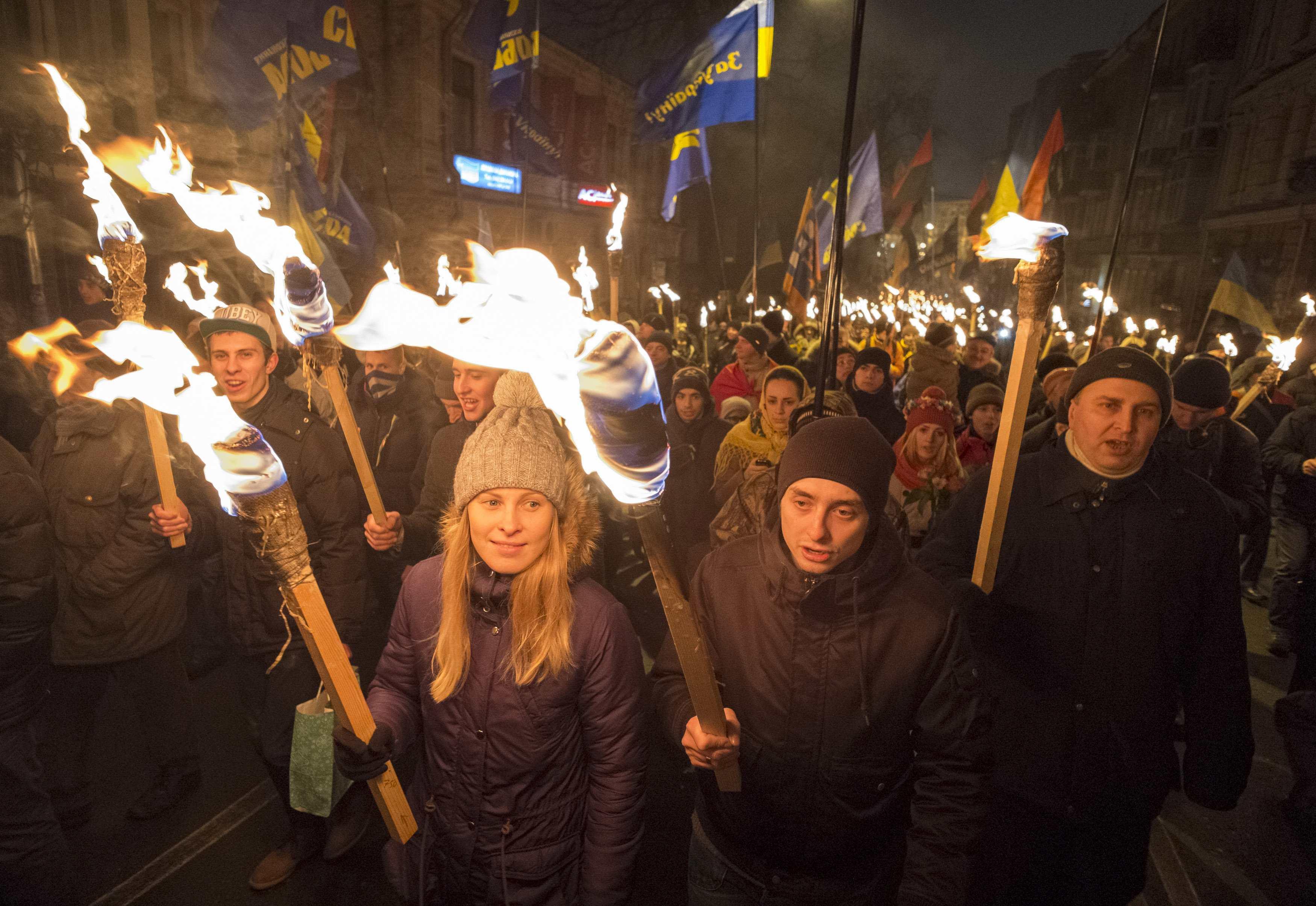 Опубликованы новые фото марша в Киеве в честь дня рождения Бандеры