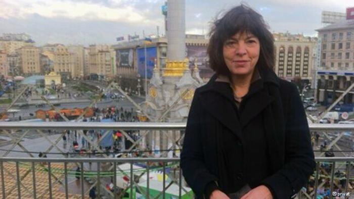 Ребекка Хармс на Майдане в Киеве