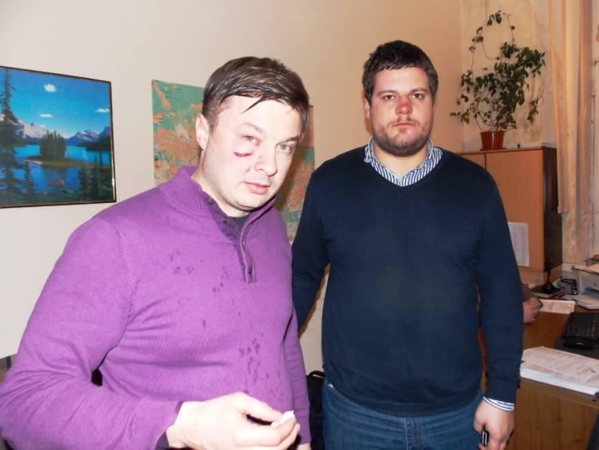 Избитые Сидор Кизин и Андрей Ильенко