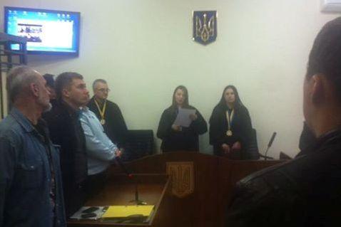 Активист Владимир Кадура на заседании суда