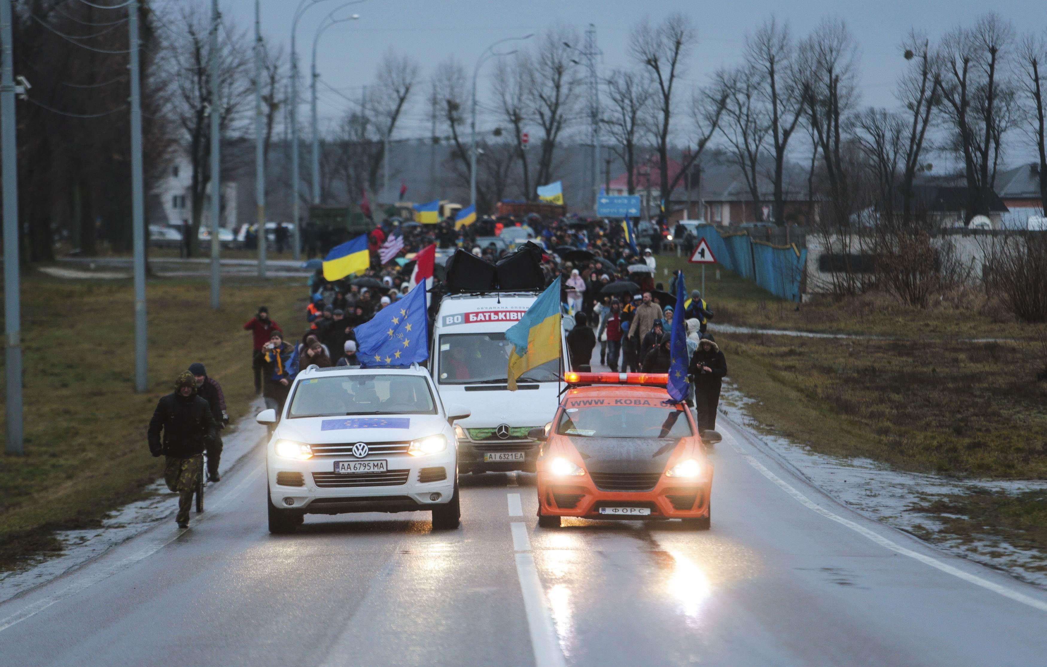 Акция Автомайдана 12 января