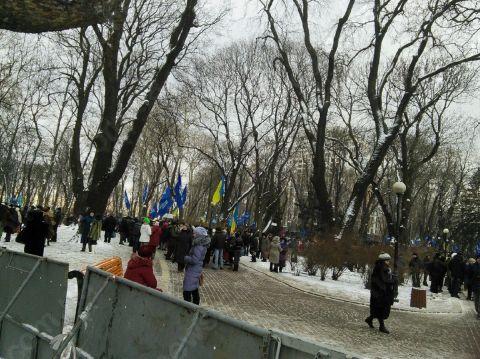 В Мариинскйи парк прибывают сторонники ПР