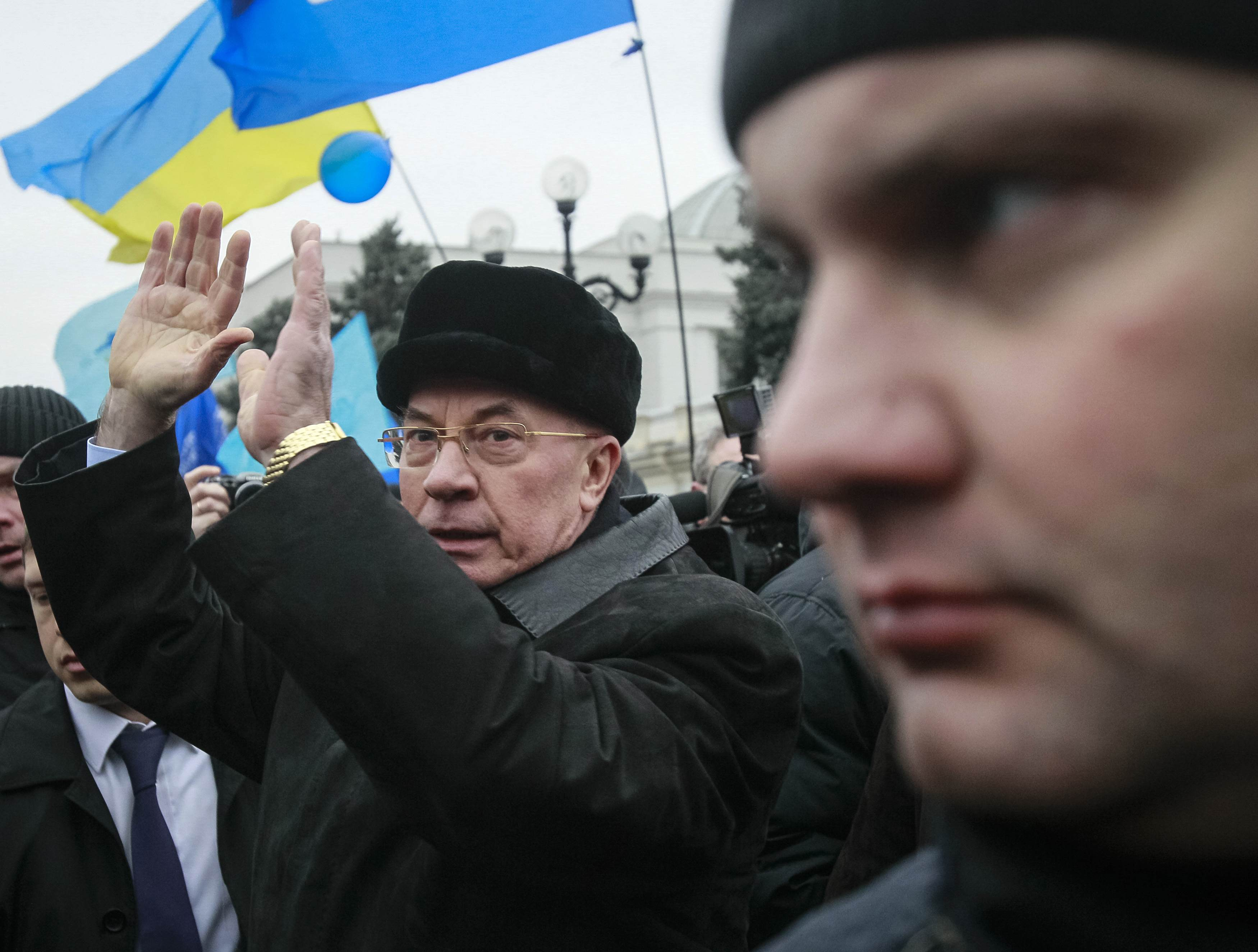 Николай Азаров на Антимайдане 16 января