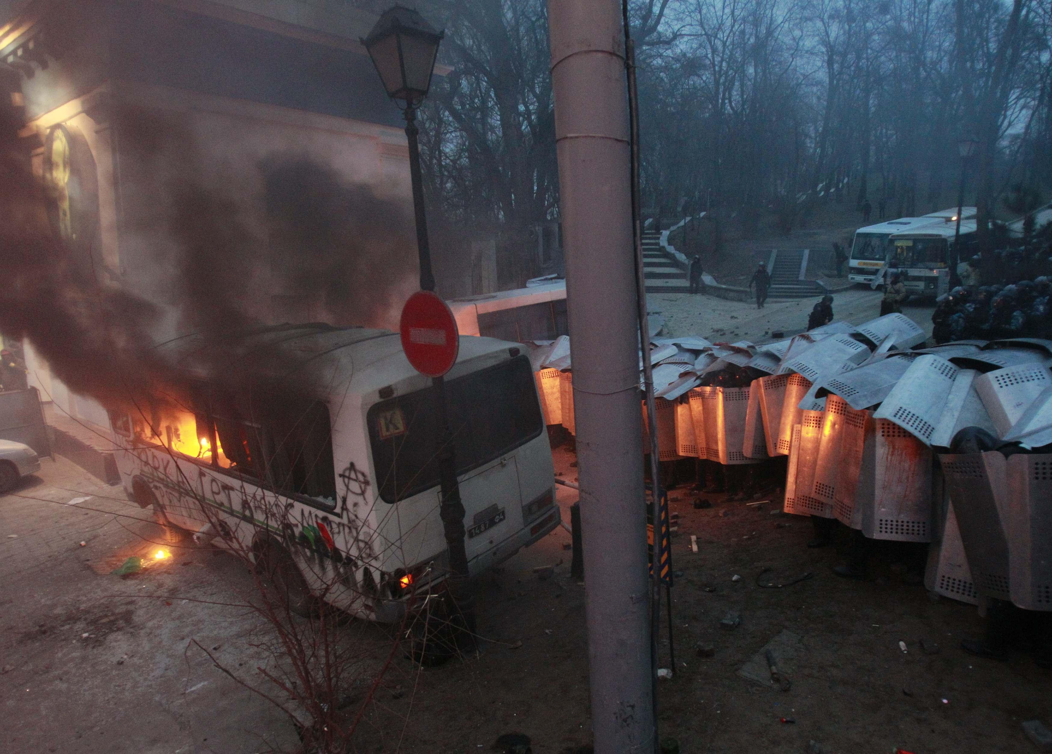 Драки с милицией в Киеве: опубликованы новые фото
