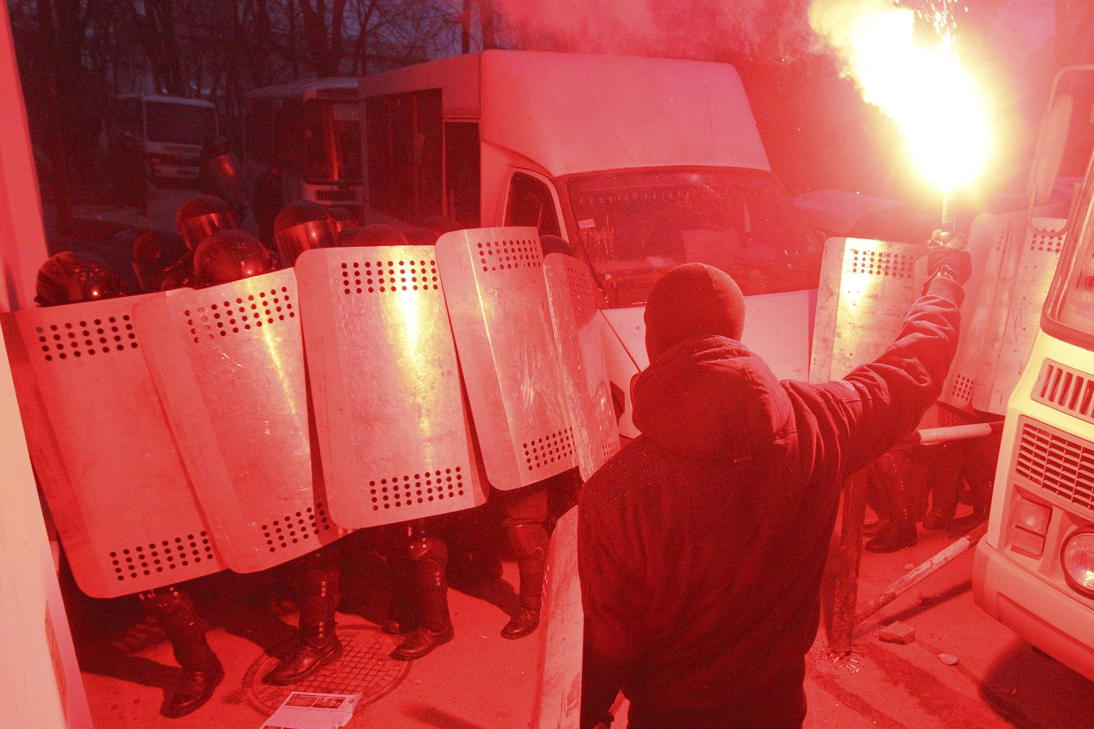События в центре Киева