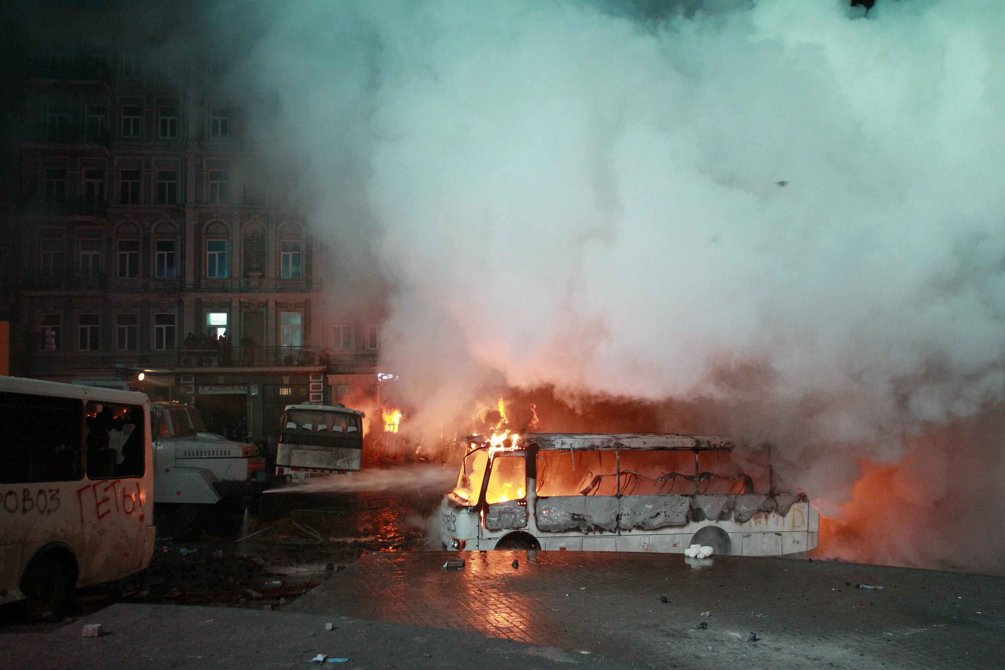 Фото с места протестов