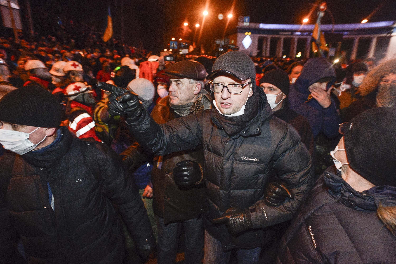 На месте протестов побывал Арсений Яценюк