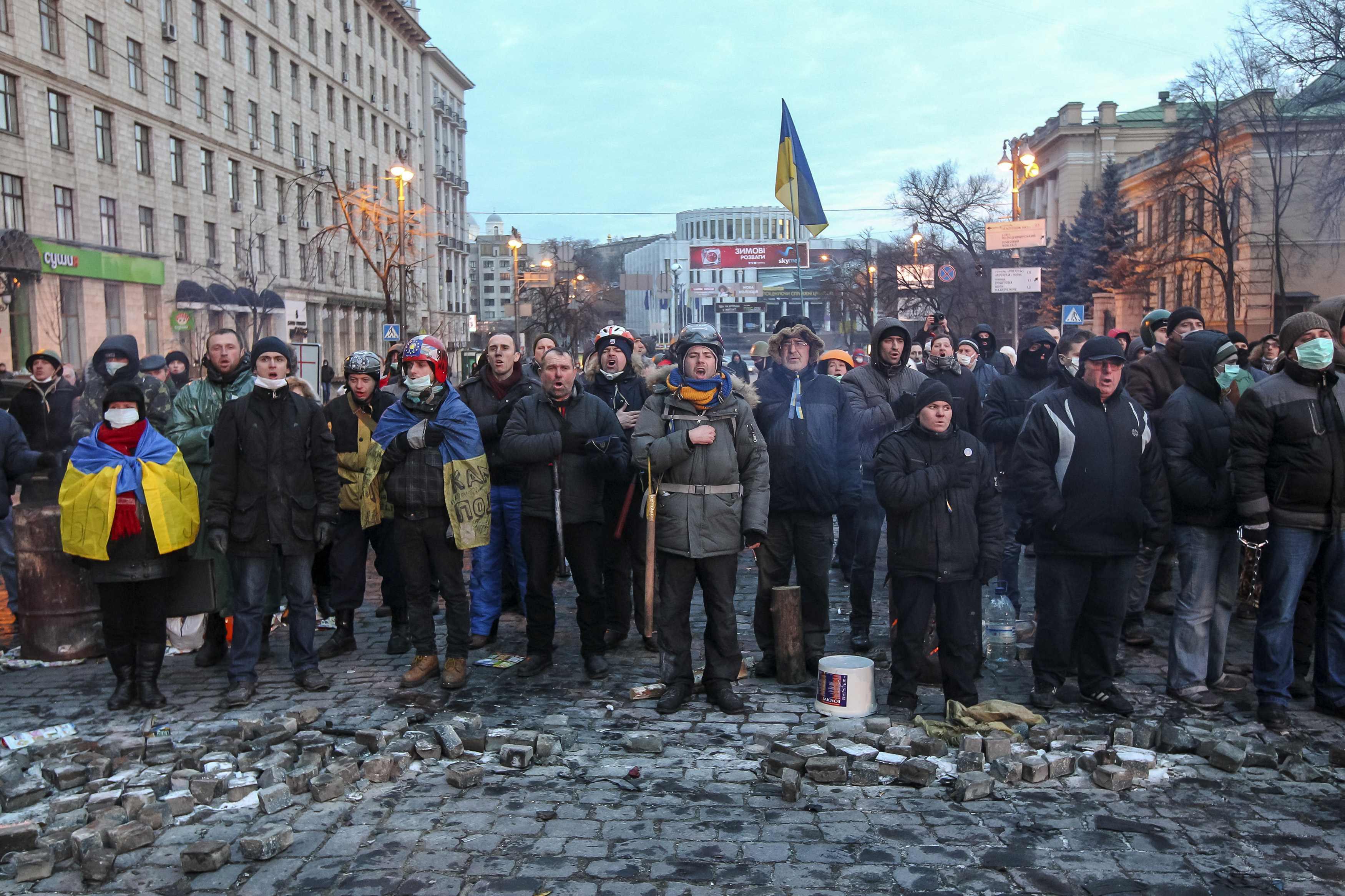 Столкновения на Грушевского, 20 января