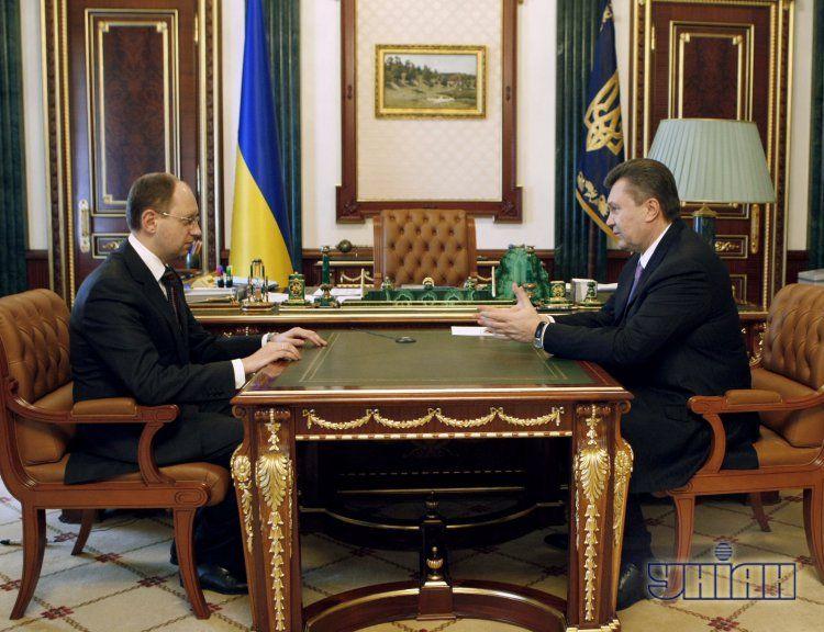 Арсений Яценюк и Виктор Янукович