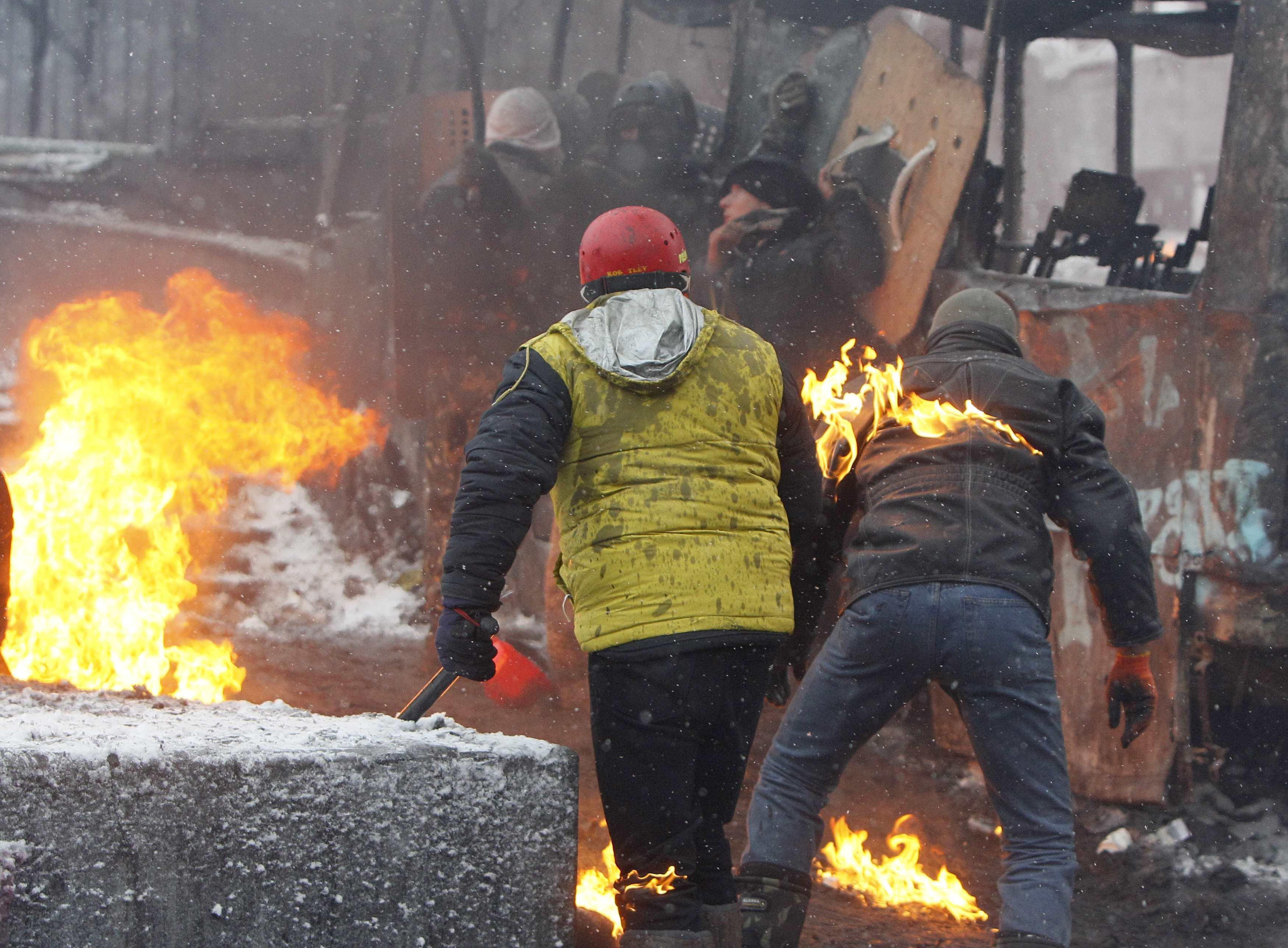 Противостояние на Грушевского утром в среду