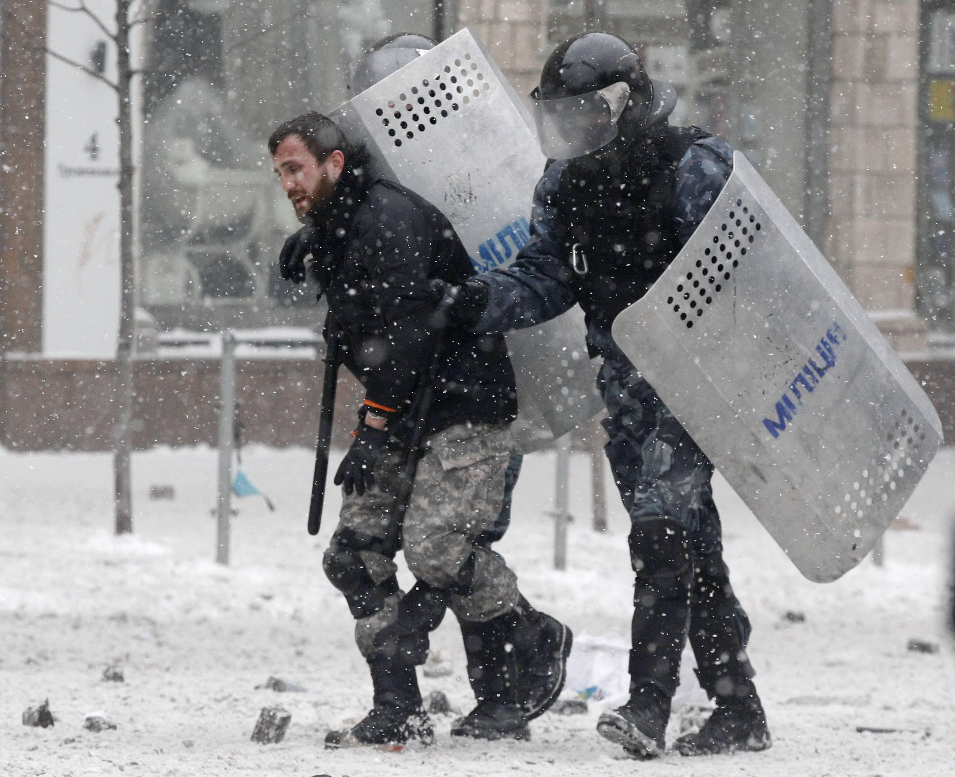 События на Грушевского, 22 января