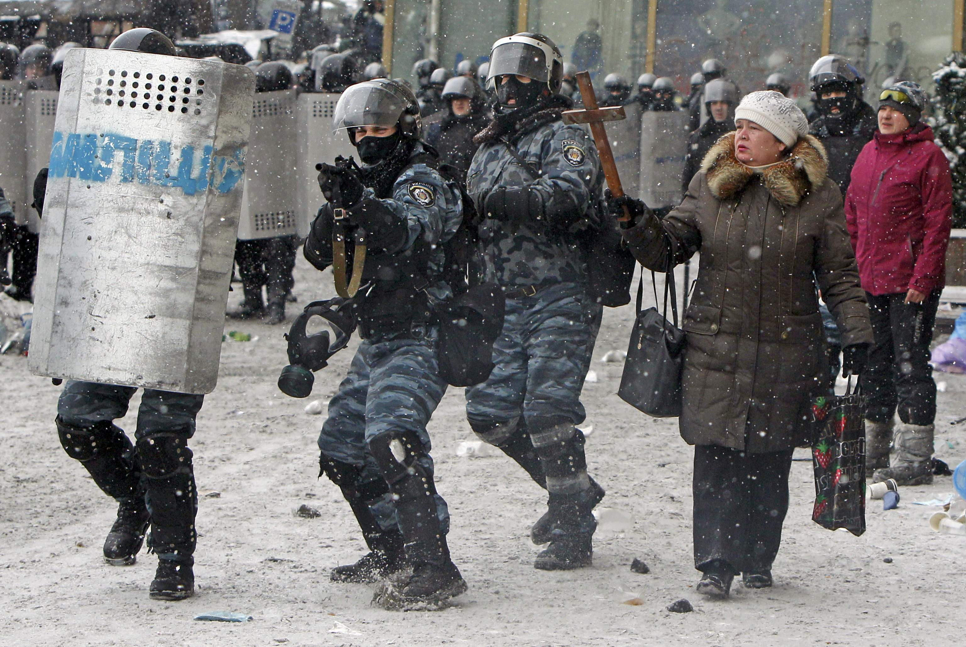 Попытка разгона Майдана 22 января