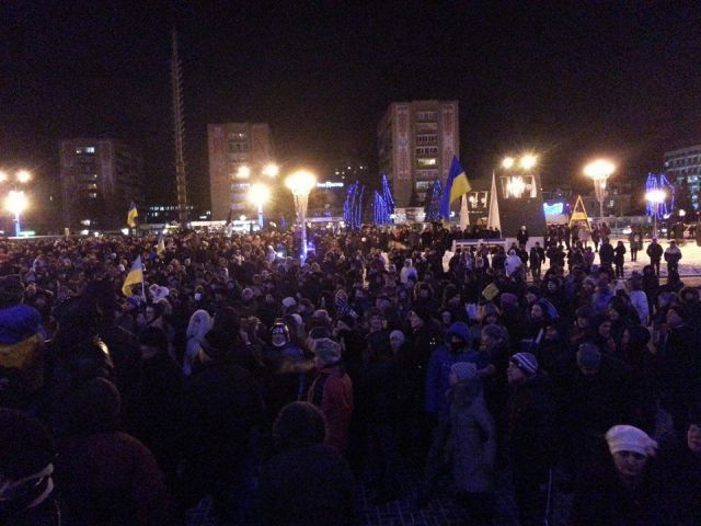 Толпа у Черкасской ОГА