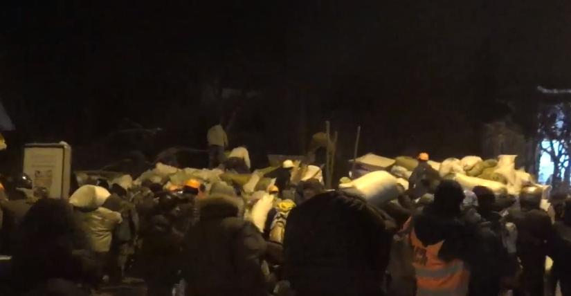 Новая баррикада в Киеве