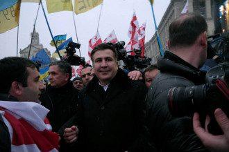 Саакашвили побывал на Евромайдане