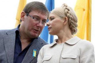 Экс-премьер Юлия Тимошенко и экс-министр Юрий Луценко
