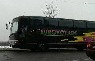 На таких автобусах везут сторонников власти