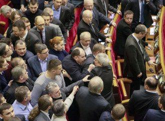 Голосование 16 января переросло в драку нардепов