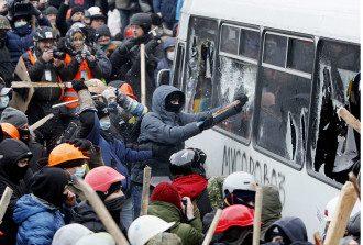 Драка в Киеве 19 января
