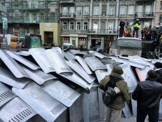 На Грушевского милиция перекрыла дорогу
