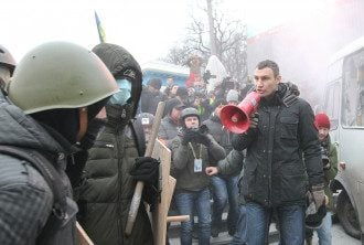 Виталий Кличко на Грушевского