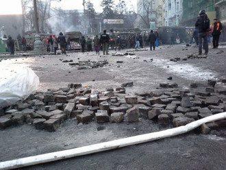 Утро 20 января на улице Грушевского