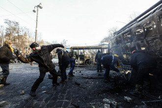 Стычки в Киеве продолжаются