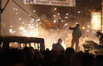 Уличное противостояние в Киеве