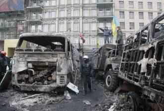 На Грушевского третий день идут столкновения митингующих с милицией