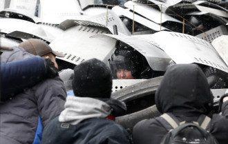 Разгон протеста на Грушевского