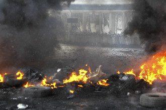 Противостояние на Грушевского 22 января
