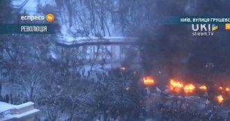 Противостояние в Киеве: Грушевского пылает, милицию оттеснили с Европейской площади