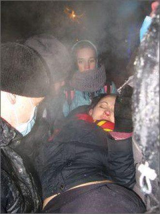 При штурме ОГА в Черкассах пострадали люди