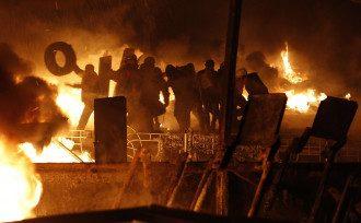Огненные баррикады на Грушевского