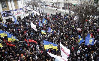 Штурм ОГА в Виннице 25 января