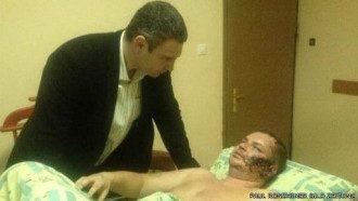 Виталий Кличко в больнице у Дмитрия Булатова