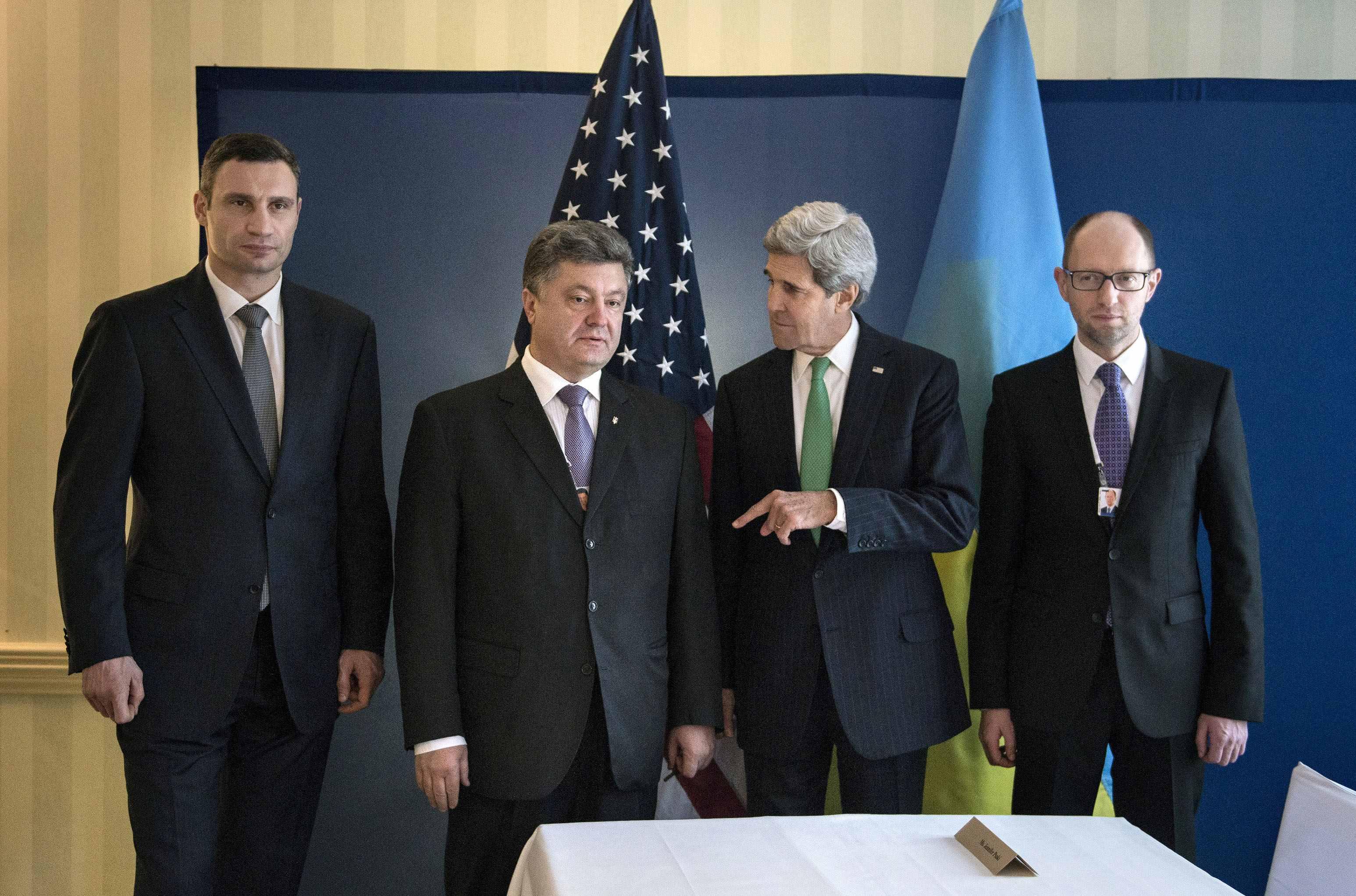 Украинские оппозиционеры и госсекретарь США Джон Керри