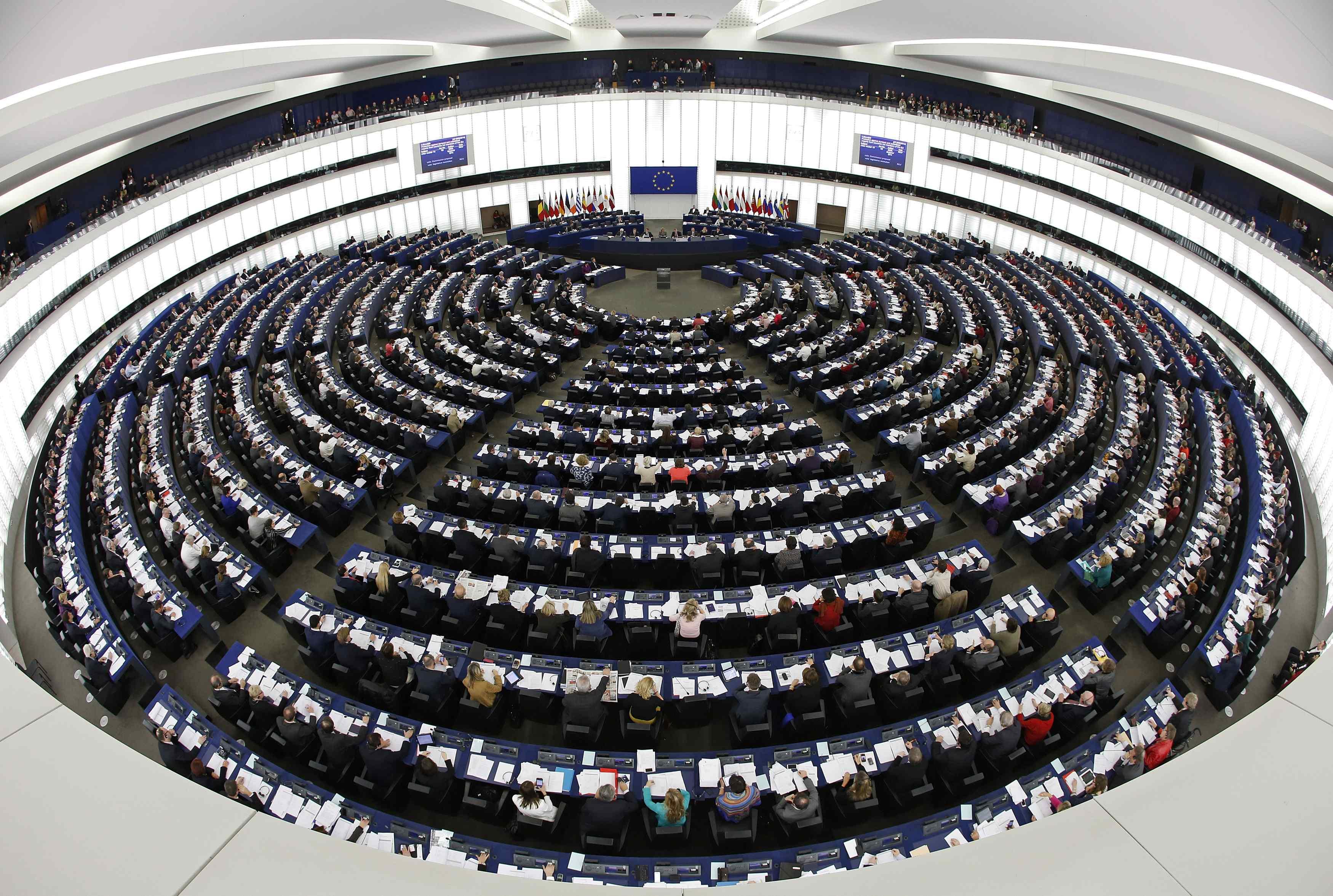 Сессионный зал Европарламента, иллюстрация