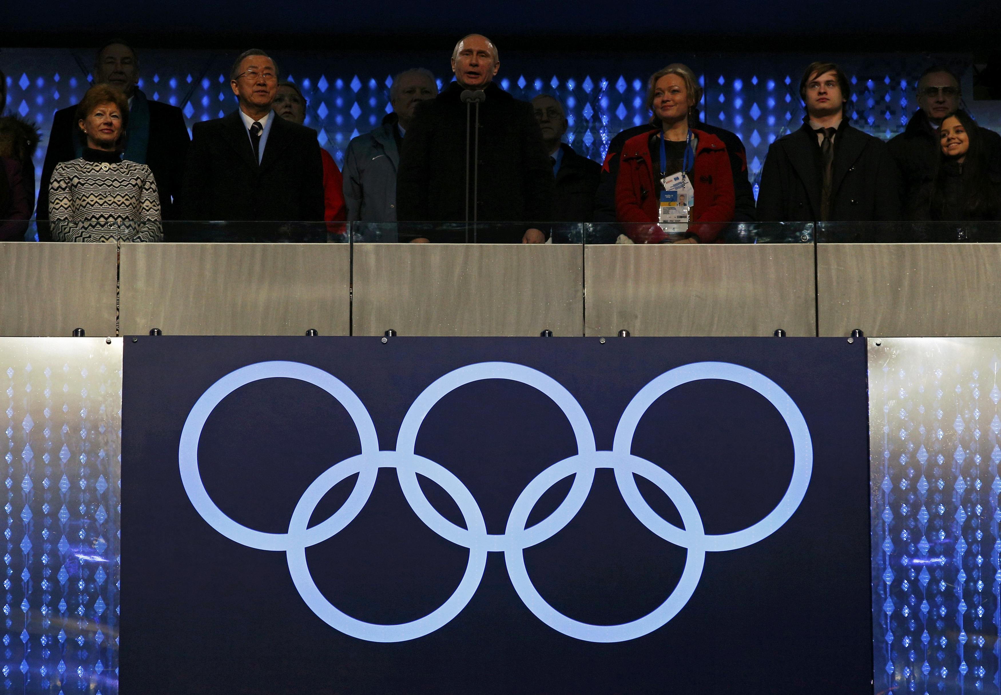 Путин открывает Олимпиаду в Сочи