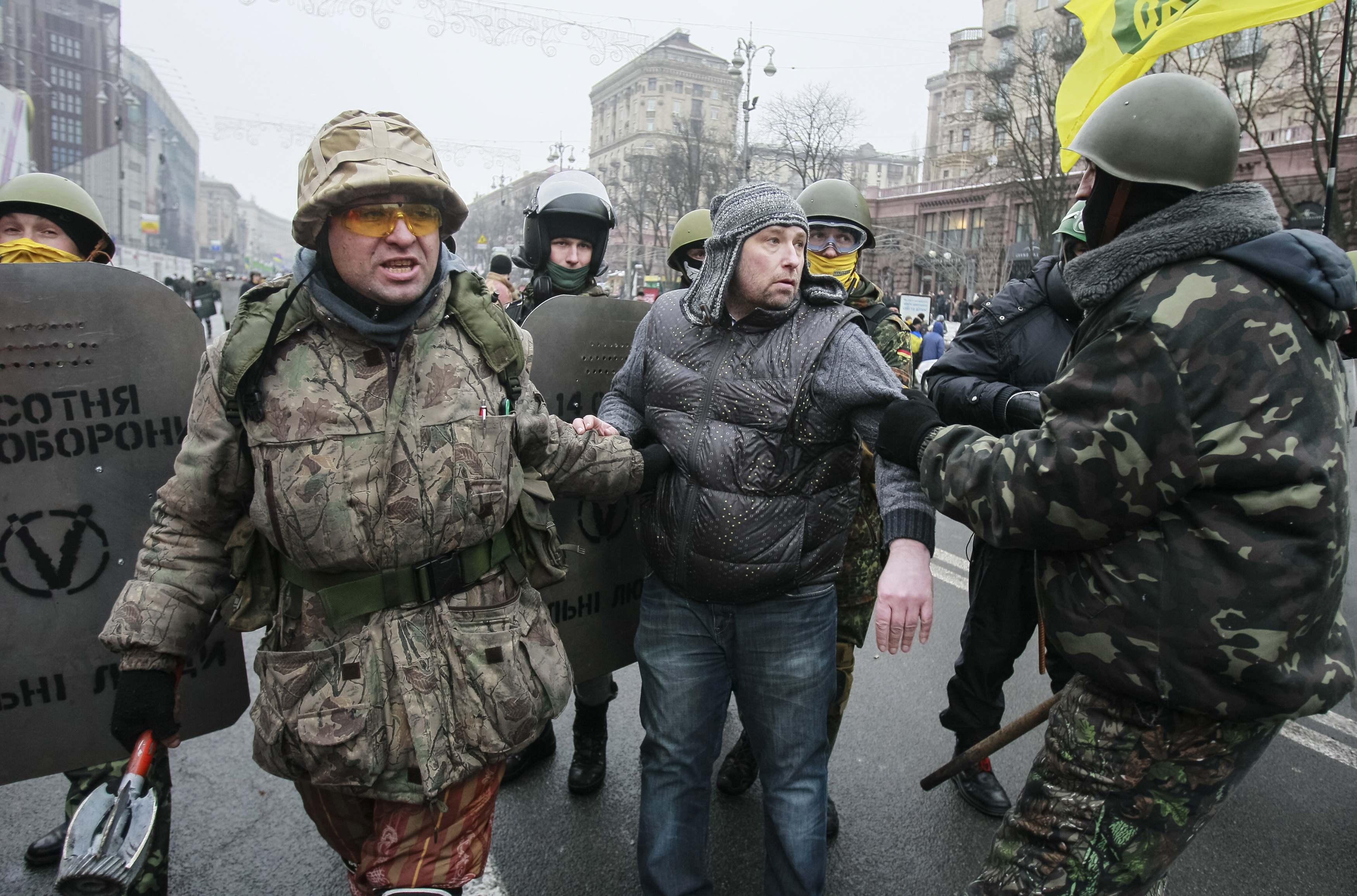 Самооборона Майдана поймала провокатора