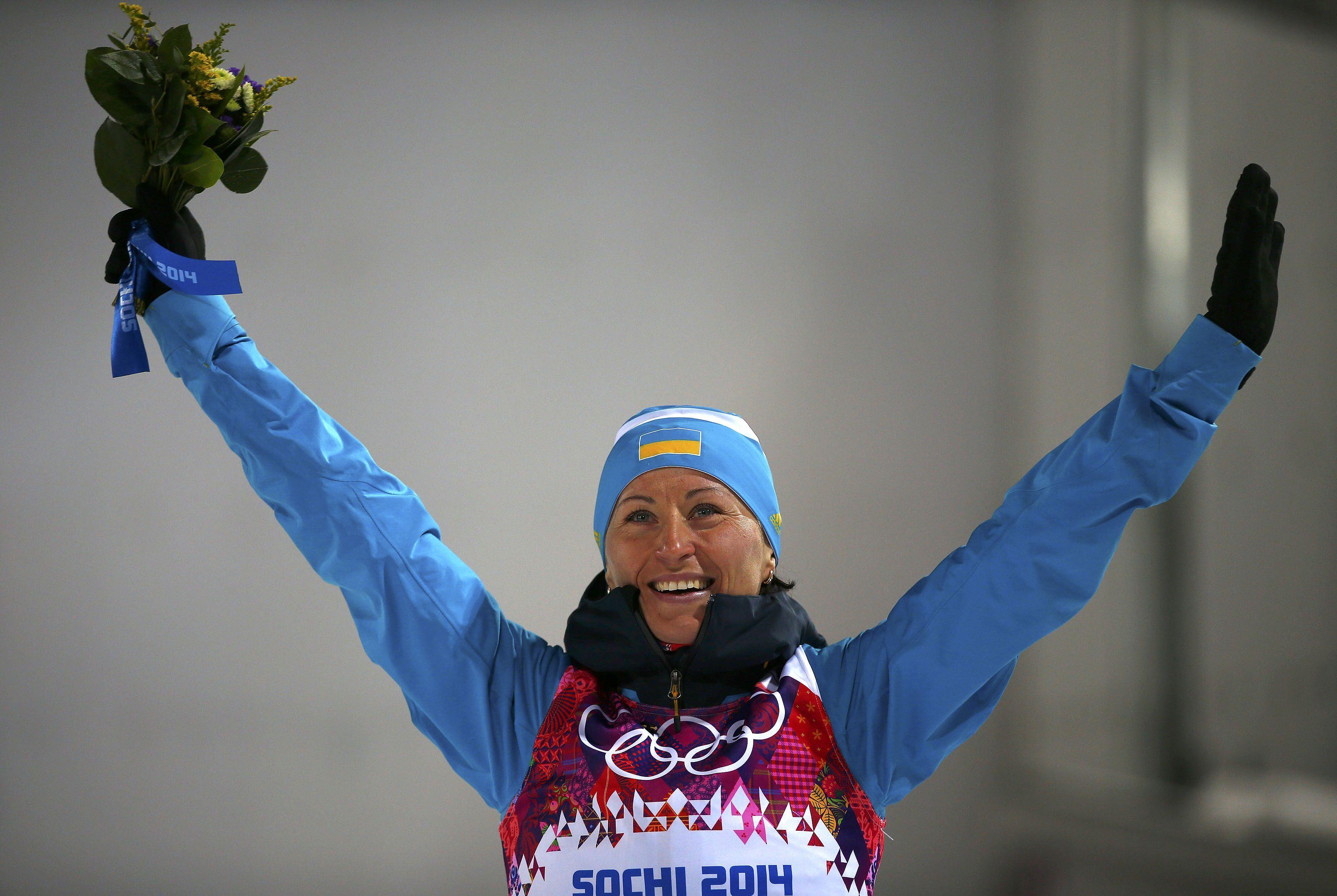 Украинская биатлонистка Вита Семеренко.