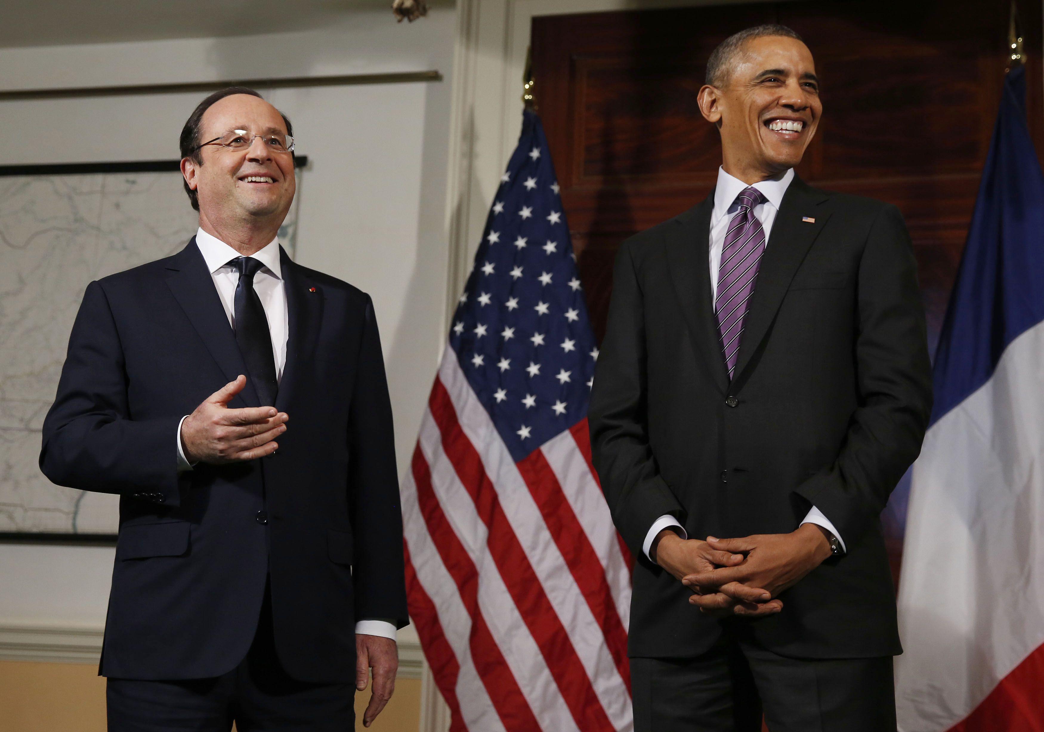 Франсуа Олланд, Барака Обама