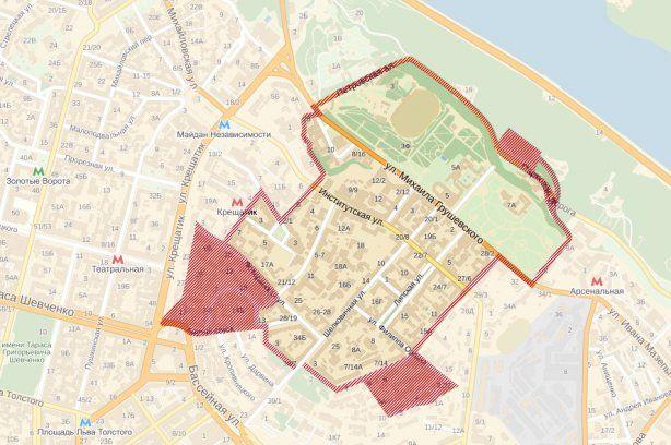 Карта района, указанного в перечне