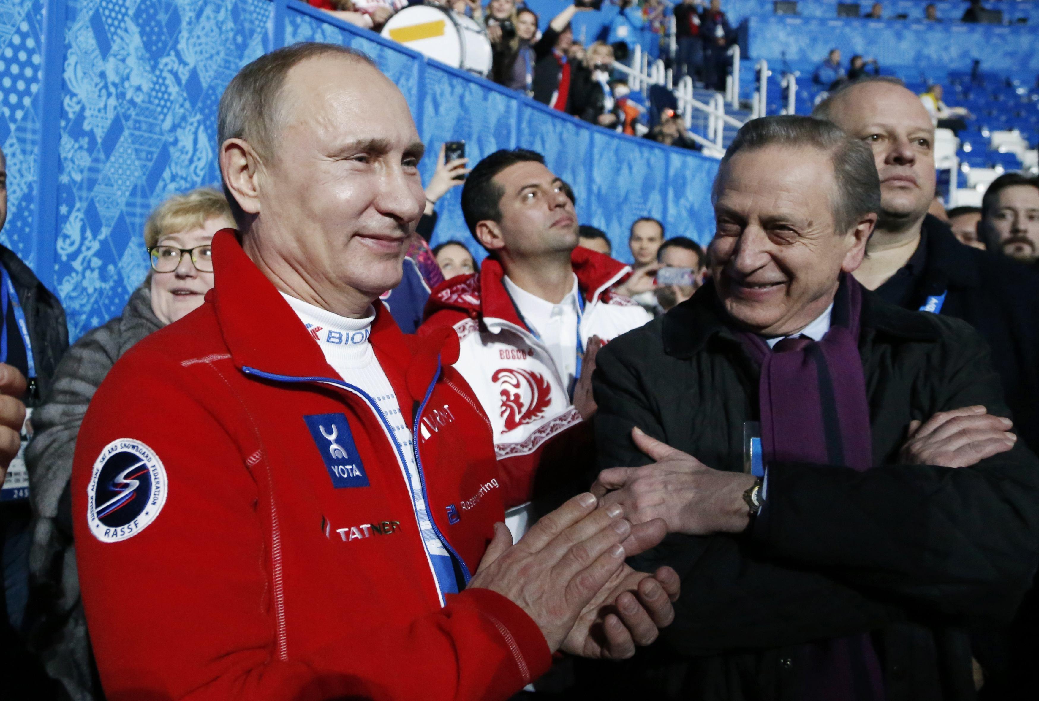 Владимир Путин на Олимпиаде в Сочи