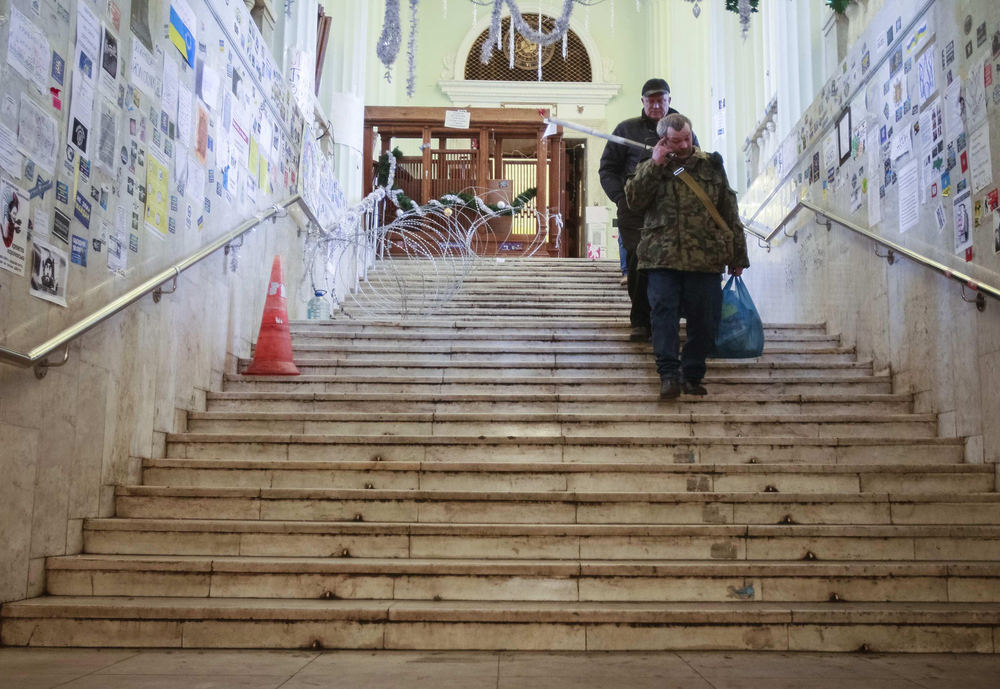 Активисты ушли из КГГА до погрома