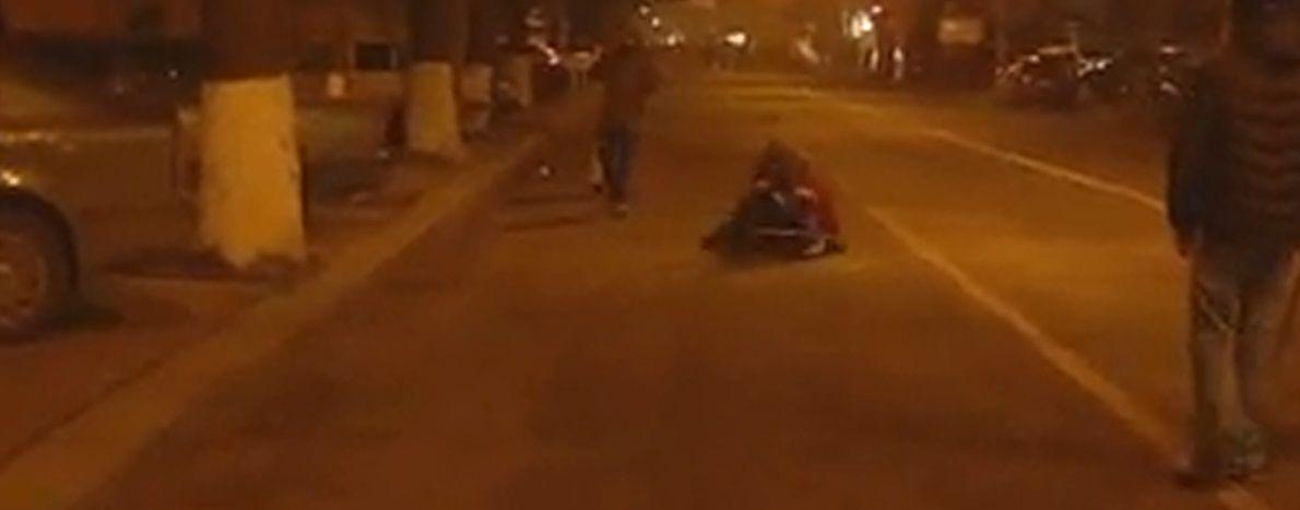 Стоп-кадр видео после расстрела