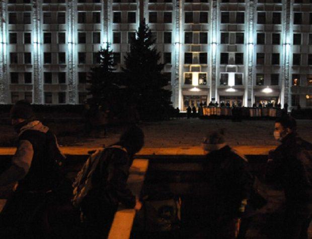 Фото штурма ОГА в Полтаве